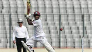 West Indies beat Bangladesh by 10 wickets in the first Test match at St. Vincent