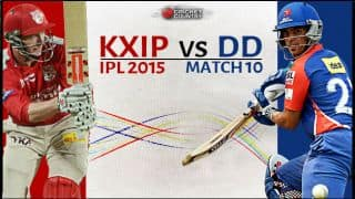 Live Cricket Score Kings XI Punjab vs Delhi Daredevils IPL 2015 Match 10 at Pune, Delhi Daredevils 169/5 in Overs 19.5: Delhi finally win an IPL game