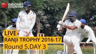 LIVE Cricket Score Ranji Trophy 2016-17, Day 3, Round 5