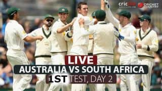 LIVE Cricket Score, Australia vs South Africa, 1st Test, Day 2 at Perth: Visitors end day on decent note