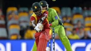 Zimbabwe post 172/6 against Pakistan in 1st T20I at Lahore