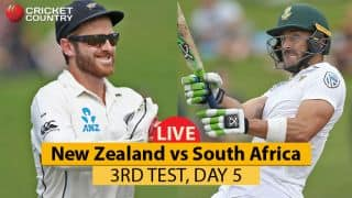 Live Cricket Score, NZ vs SA, 3rd Test, Day 5: Rain delays start of match
