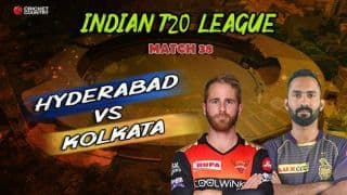 IPL Latest Updates, Sunrisers Hyderabad vs Kolkata Knight Riders: Bairstow, Warner race to respective half-centuries