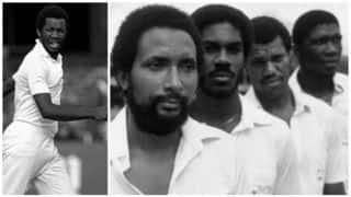 Andy Roberts, Michael Holding, Joel Garner, Colin Croft, Malcolm Marshall play together for the only time
