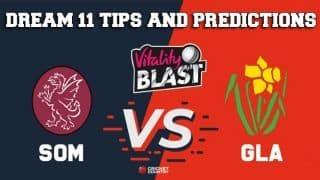 Dream11 Team Somerset vs Glamorgan South Group VITALITY T20 BLAST ENGLISH T20 BLAST – Cricket Prediction Tips For Today's T20 Match SOM vs GLA at Taunton