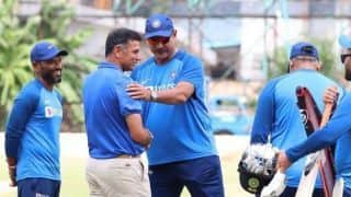 Ahead of Bengaluru T20I, Rahul Dravid spends time with Indian team