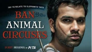Rohit Sharma raises awareness about treatment of circus elephants