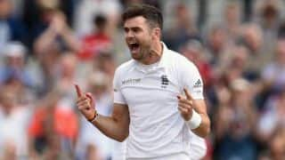 James Anderson talks to fans ahead of India vs England 4th Test at Old Trafford