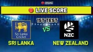 LIVE SCORE SL vs NZ 1st Test, Day 4, at Galle: Sri Lanka openers steady chasing 268 to win in Galle