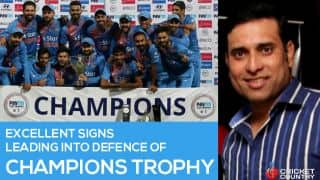 VVS Laxman: Excellent signs leading into defence of Champions Trophy