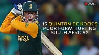 Quinton de Kock's poor form is hurting South Africa