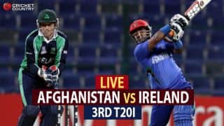 Live Cricket Score, Afghanistan vs Ireland, 3rd T20I at Greater Noida: Afghanistan win series 3-0
