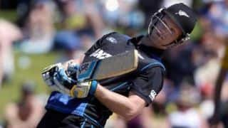New Zealand lose Martin Guptill off the bowling of Mohammad Irfan