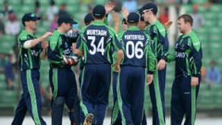 Live Cricket Score, Ireland vs Scotland, ICC World Cup 2015, 7th warm-up match at Sydney, Ireland 117 all-out in Overs 27: Scotland win by 179 runs