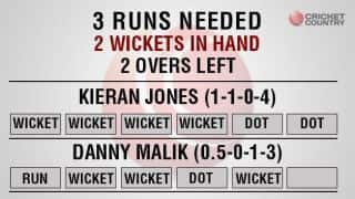 2 to score in 12 for 7 wickets: how did they lose that?