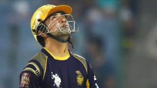 IPL 2014: Gautam Gambhir fined for showing dissent at umpire's decision during KKR-SRH match