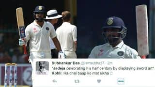 Rohit's 68*, Jadeja's sword-fencing and others: Twitter reactions