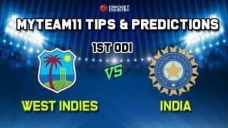 MyTeam11 Team India vs West Indies 1st ODI – Cricket Prediction Tips For Today's ODI Match IND vs WI at Providence Stadium, Guyana
