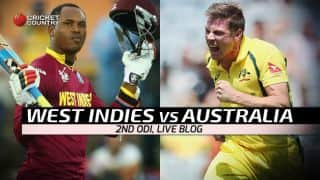 AUS 117/4 in 25.4 Overs | Live Cricket Score, West Indies vs Australia, West Indies Tri-Nation Series 2016, Match 2 at Guyana: AUS win by 6 wickets
