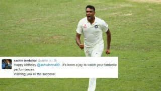 Sachin Tendulkar, other cricketers wish Ravinchandran Ashwin on his 30th birthday
