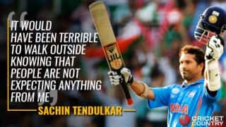 Tendulkar: I took expectations positively because I was capable of delivering them