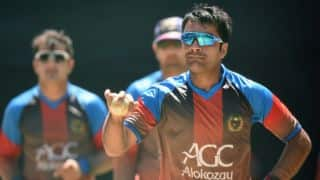 Afghanistan vs Hong Kong, Intercontinental Cup, Day 1: Rashid Khan's 4-for reduces Hong Kong to 95/6 before lunch