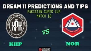 Dream11 Team Khyber Pakhtunkhwa vs Northern Pakistan T20 Cup National T20 Cup, 2019 – Cricket Prediction Tips For Today's T20 Match 12 KHP vs NOR at Faisalabad