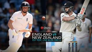 Live Cricket Score England vs New Zealand 2015, 1st Test at Lord's, Day 4 ENG 429/6: England lead by 295 at stumps