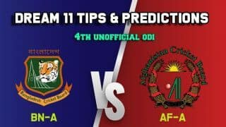 BN A vs AF A Dream11 Team Bangladesh A vs Afghanistan A, 4th Unofficial ODI, Bangladesh A vs Afghanistan A ODI – Cricket Prediction Tips For Today's Match BN A vs AF A at Savar