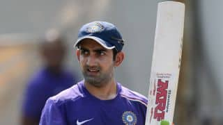 Gautam Gambhir criticises Kashmiri separatist leader Mirwaiz Umar Farooq for congratulating Pakistan for victory over India