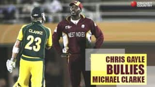 VIDEO: Chris Gayle bullies Michael Clarke during ICC Champions Trophy 2006