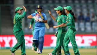 Pakistan edge India by 2 runs according to D/L method in Group B match of ICC Women's T20 World Cup at Delhi