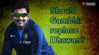 India vs England 2014, 3rd Test at Southampton: Should Gautam Gambhir play ahead of Shikhar Dhawan?