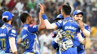 IPL 2018: MI crush KKR by 102 runs; replace them at 4th spot