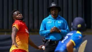 Zimbabwe pacer Brian Vitori suspended