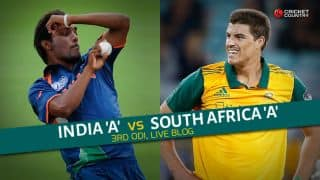 Live Cricket Score India A vs South Africa A, Triangular series 3rd match at Chennai IND A 217 for 0 in 34 overs: Openers lead India A confidently towards target
