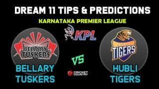 BT vs HT Dream11 Team Bellary Tuskers vs Hubli Tigers KPL 2019 Karnataka Premier League – Cricket Prediction Tips For Today's T20 Match at Bengaluru
