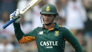 Quinton de Kock scores half-century against India in ICC World T20 2016 warm-up match at Mumbai