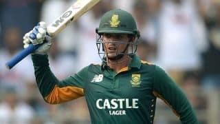 Quinton de Kock scores half-century against India in ICC World T20 2016 warm-up match at Mumbai
