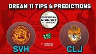 Dream11 Team SVH vs CLJ Group B European Cricket League-T10 – Cricket Prediction Tips For Today's T10 Match Svanholm Cricket Club vs Cluj Cricket Club at La Manga Club
