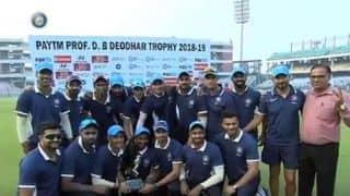 Rahane, Kishan centuries lead India C to Deodhar Trophy title
