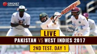 Live Cricket Score, Pakistan vs West Indies, 2nd Test, Day 1: WI 2 down