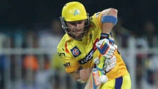 Brendon McCullum dismissed in Chennai Super Kings vs Mumbai Indians IPL 2014 Eliminator match