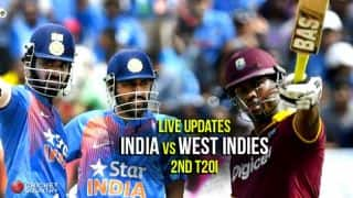 WI win series 1-0 | Live Cricket Score, IND vs WI, 2nd T20I 2016: Match suspended due to rain