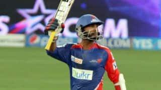 Dinesh Karthik, Laxmi Shukla dismissed in Delhi Daredevils vs Sunrisers Hyderabad, IPL 2014
