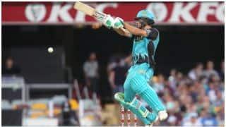 बिग बैश लीग- ब्रिसबेन हीट के बल्लेबाजों का धमाका, जमाए 9 छक्के, स्कोर 206