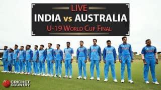 Live Cricket Score, India vs Australia, ICC U-19 World Cup 2018, Final: India win by 8 wickets