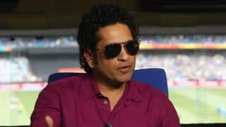 Sachin Tendulkar meets Indian students from Yuvraj Singh Centre of Excellence at Lord's