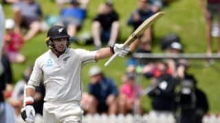 Tom Latham becomes fourth New Zealand opener to carry the bat through a completed innings