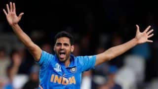 Cricket World Cup 2019: Bhuvneshwar satisfied for having picked wickets on a batting-friendly pitch